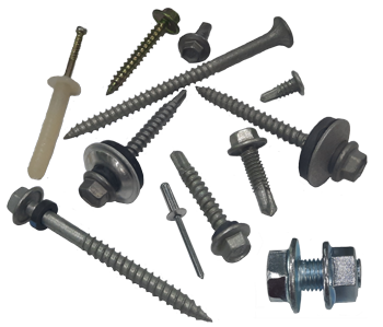 Assorted screws, bolts and rivets