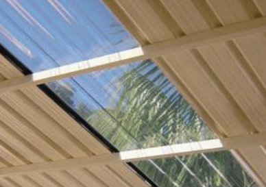 Polycarbonate roof sheeting lets the light through