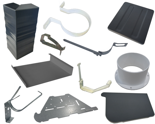 Rainwater accessories - gutter stop ends, brackets, snap clips, PVC drops, fascia joiners and ends