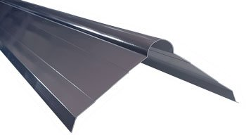 Roll formed roll top roof flashing