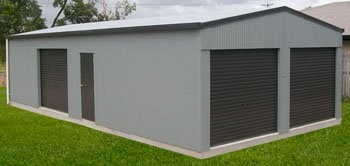 Residential shed with roller doors and Personal Access PA door